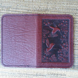 jennymonkey chm10w hummingbird leather card older business credit card open