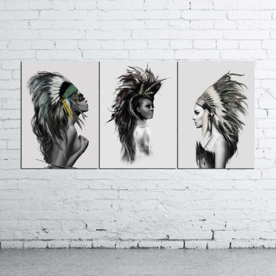 3 Native Americans - Ole Canvas
