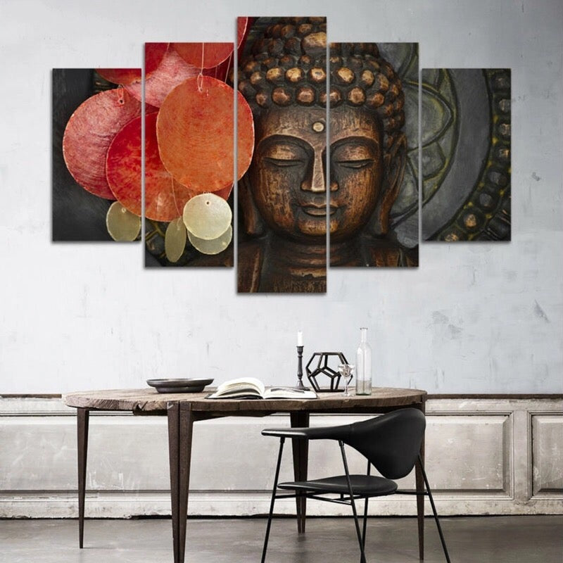 Buddha Wind Chimes, PRINTS, Ole Canvas