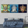 Three Ganesha Canvas Art