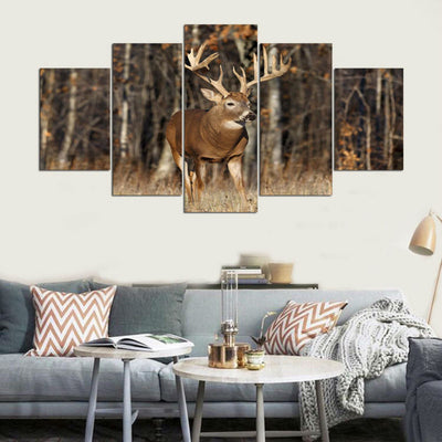 DEER IN FOREST - Ole Canvas