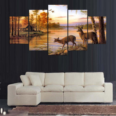 A COUPLE OF DEER - Ole Canvas