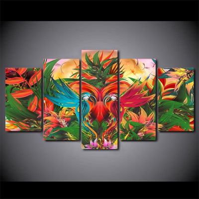 Colorful Parrots - Ole Canvas