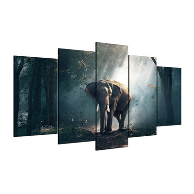 Elephant in Jungle - Ole Canvas