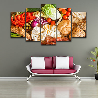 BREAD AND VEGETABLES - Ole Canvas