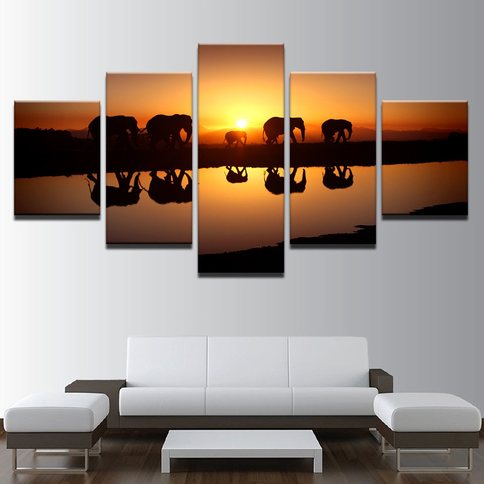 Five Elephants - Ole Canvas