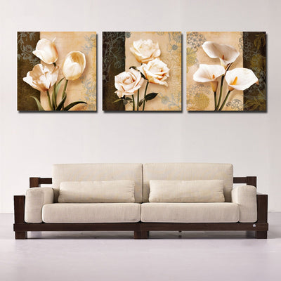 COLLAGE OF FLOWERS - Ole Canvas