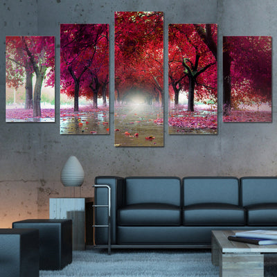 RED TREES - Ole Canvas