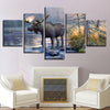 Elk At Lake, PRINTS, Ole Canvas