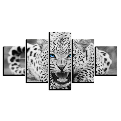 BLUE EYED LEOPARD, PRINTS, Ole Canvas