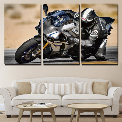 YAMAHA BIKE RACER - Ole Canvas
