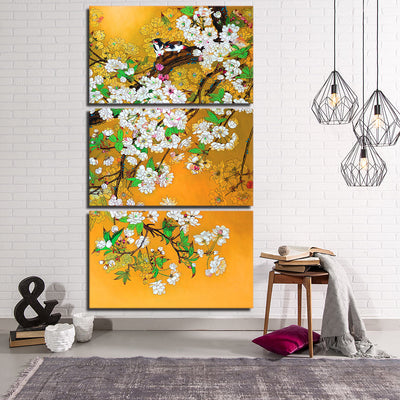 MAGPIE AMONG FLOWERS - Ole Canvas
