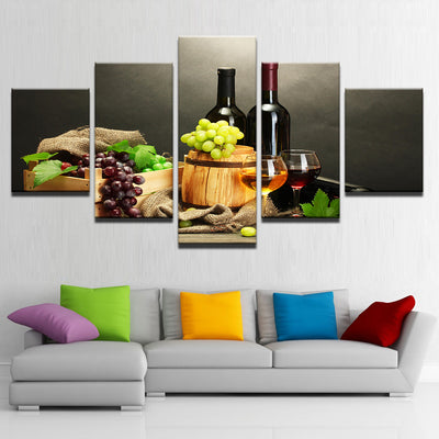 Two Wine Bottles - Ole Canvas