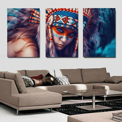 NATIVE AMERICAN GIRL - Ole Canvas
