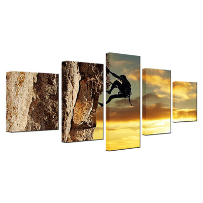 SUNSET ROCK CLIMBING - Ole Canvas