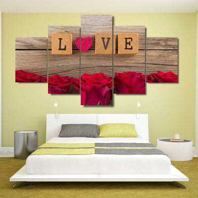 RED HEART LOVE - Ole Canvas