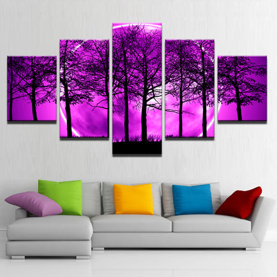 PURPLE MOON LANDSCAPE - Ole Canvas