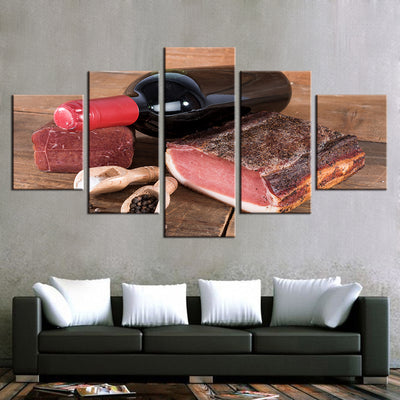 HAM AND WINE - Ole Canvas