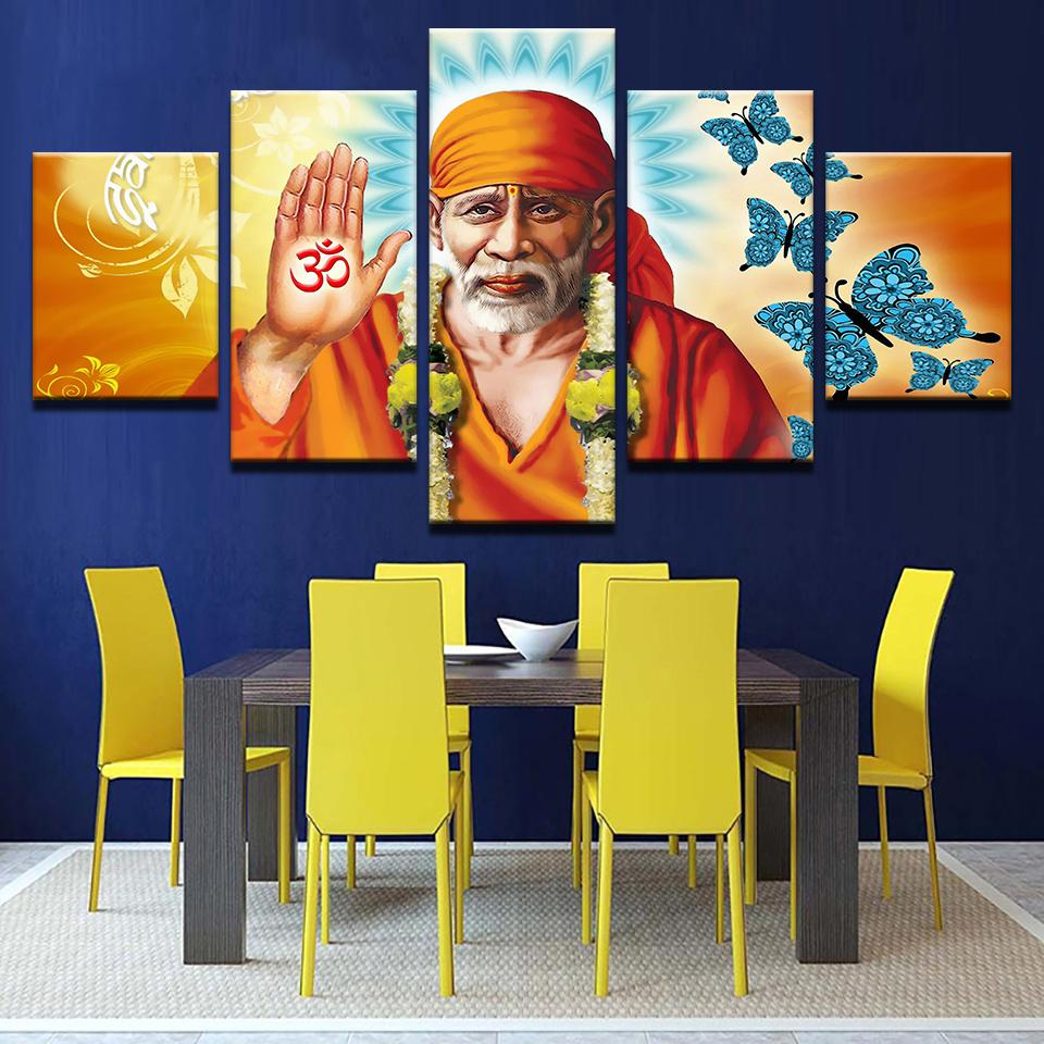 Blessings of Sai Baba - Ole Canvas