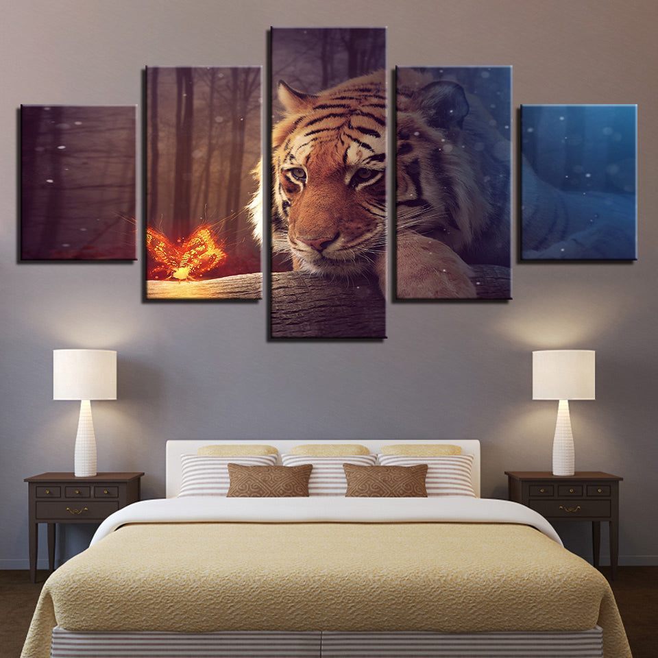 Butterfly and the Tiger, PRINTS, Ole Canvas