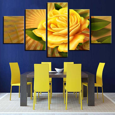 YELLOW ROSE - Ole Canvas