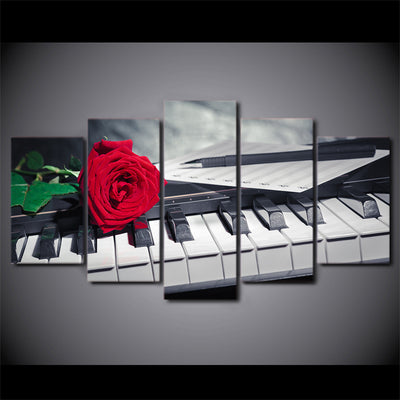 ROSE ON PIANO - Ole Canvas