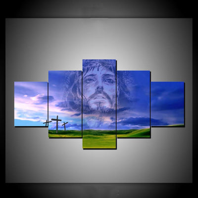 JESUS CHRIST IN THE SKY - Ole Canvas
