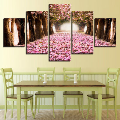PINK CHERRY BLOSSOMS HORIZON - Ole Canvas