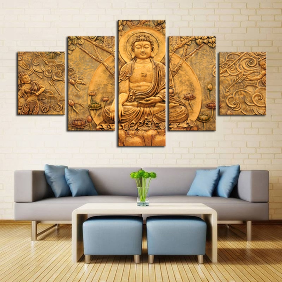 Earth Buddha, PRINTS, Ole Canvas