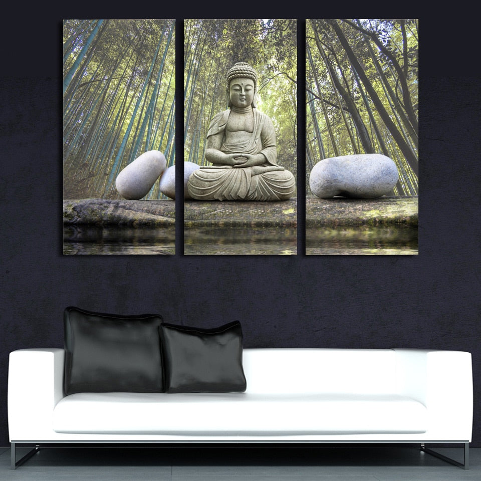 Buddha Bamboo Tree, PRINTS, Ole Canvas
