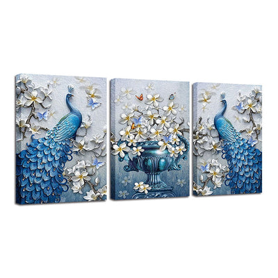 PEACOCK AMONG ORCHIDS - Ole Canvas