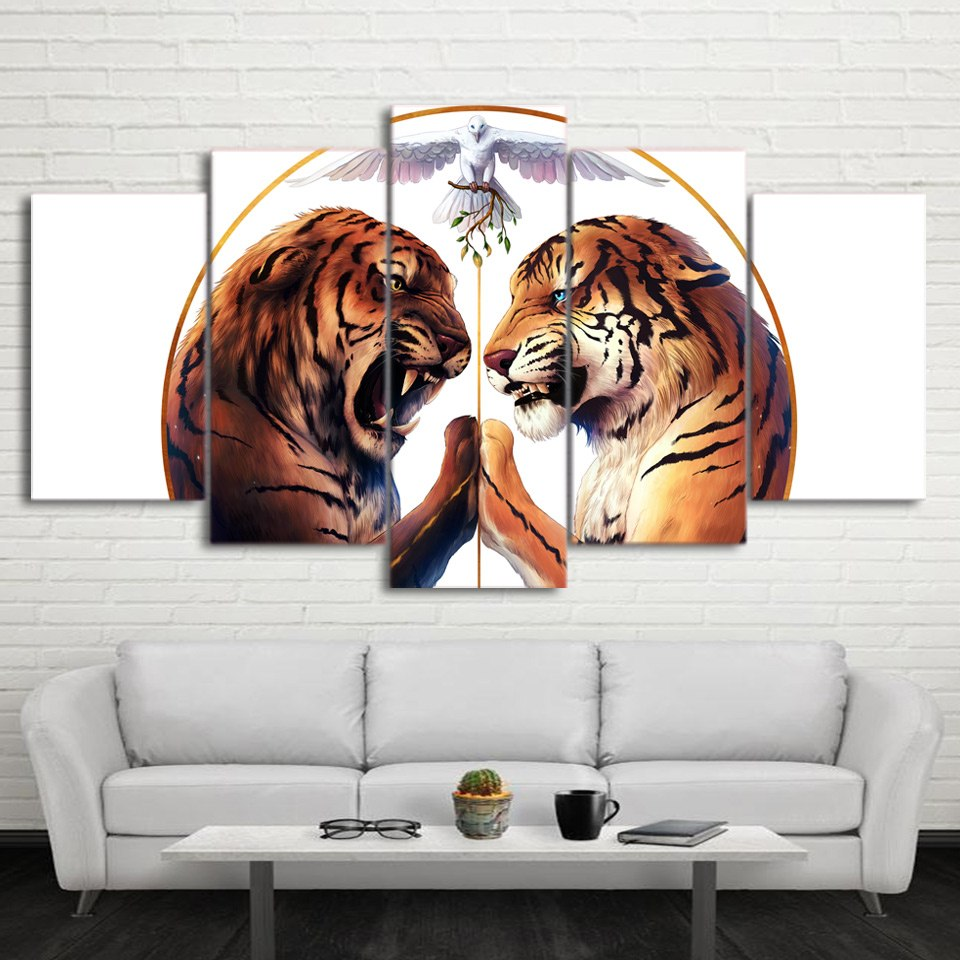 Peace Two Tigers - Ole Canvas