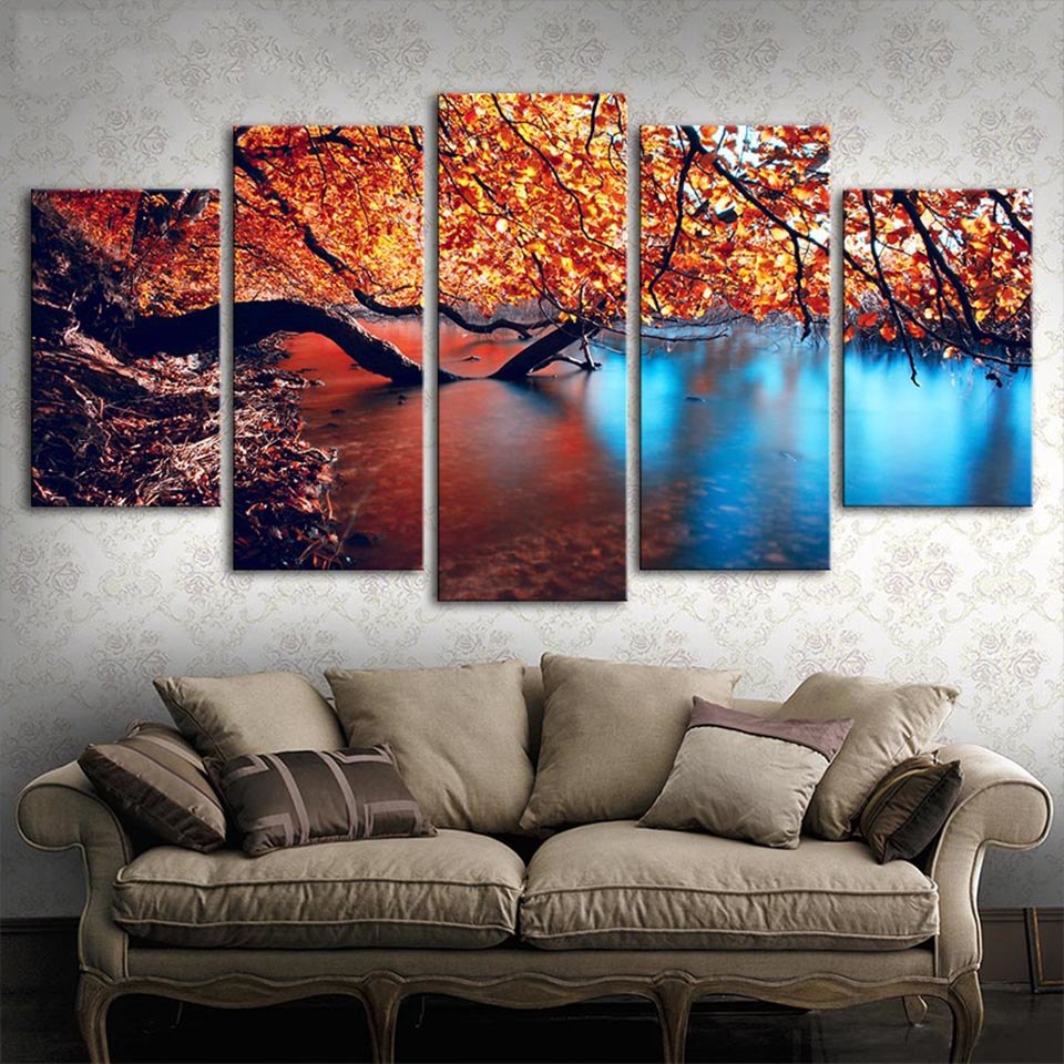 Autumn Leaves, PRINTS, Ole Canvas