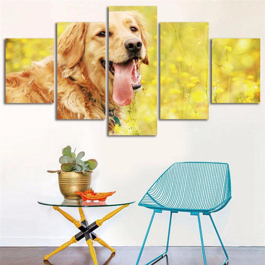 CUTE GOLDEN RETRIEVER DOG - Ole Canvas