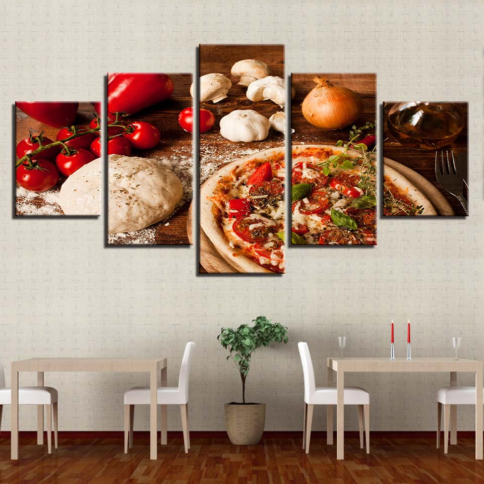 ART OF PIZZA MAKING, PRINTS, Ole Canvas
