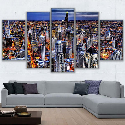 HONG KONG AT NIGHT - Ole Canvas