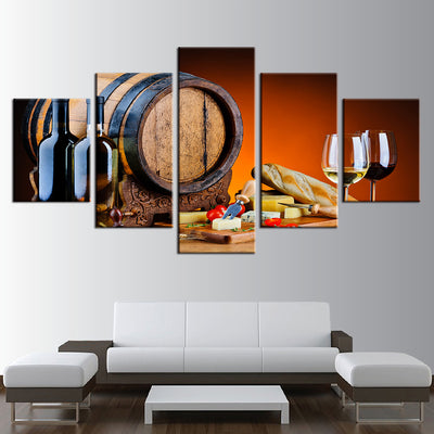 RED AND WHITE WINE - Ole Canvas