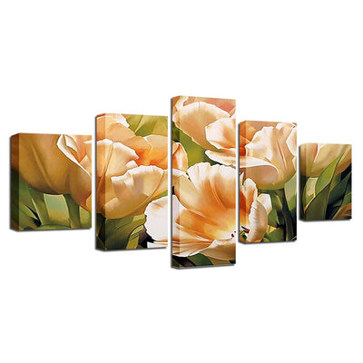 CHAMPAGNE TULIPS FLOWER - Ole Canvas