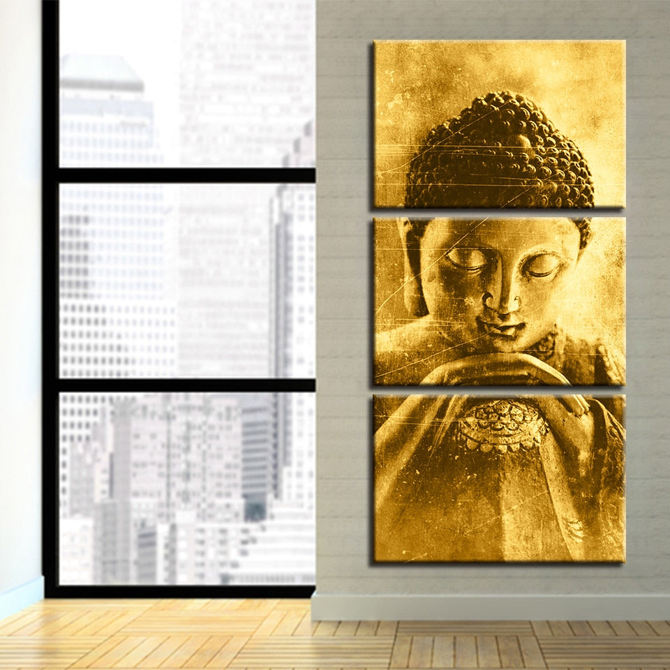 Golden Buddha - Ole Canvas