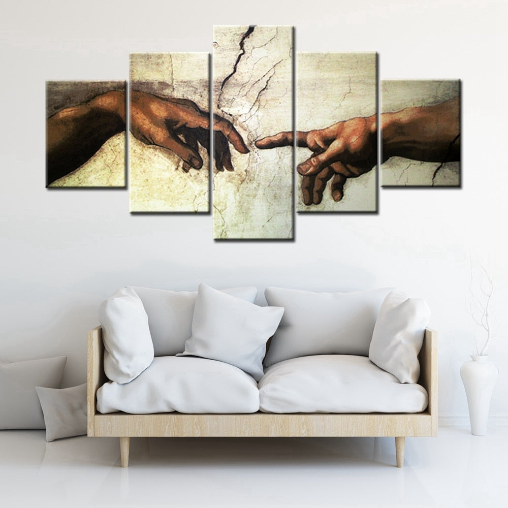 Creation of Adam, PRINTS, Ole Canvas