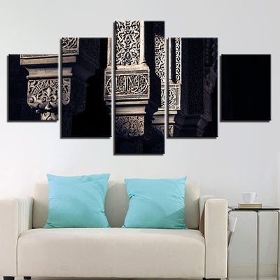 CARVINGS IN MOSQUE, PRINTS, Ole Canvas