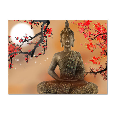 BUDDHA UNDER THE MOON - Ole Canvas