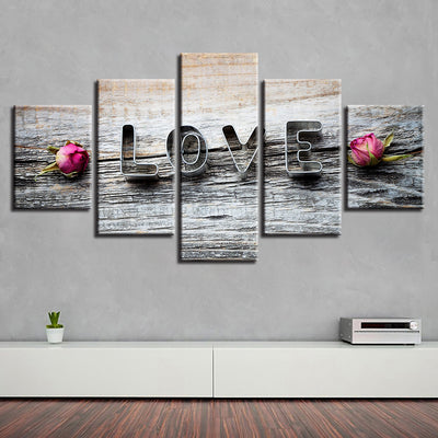 LOVE WITH ROSES - Ole Canvas