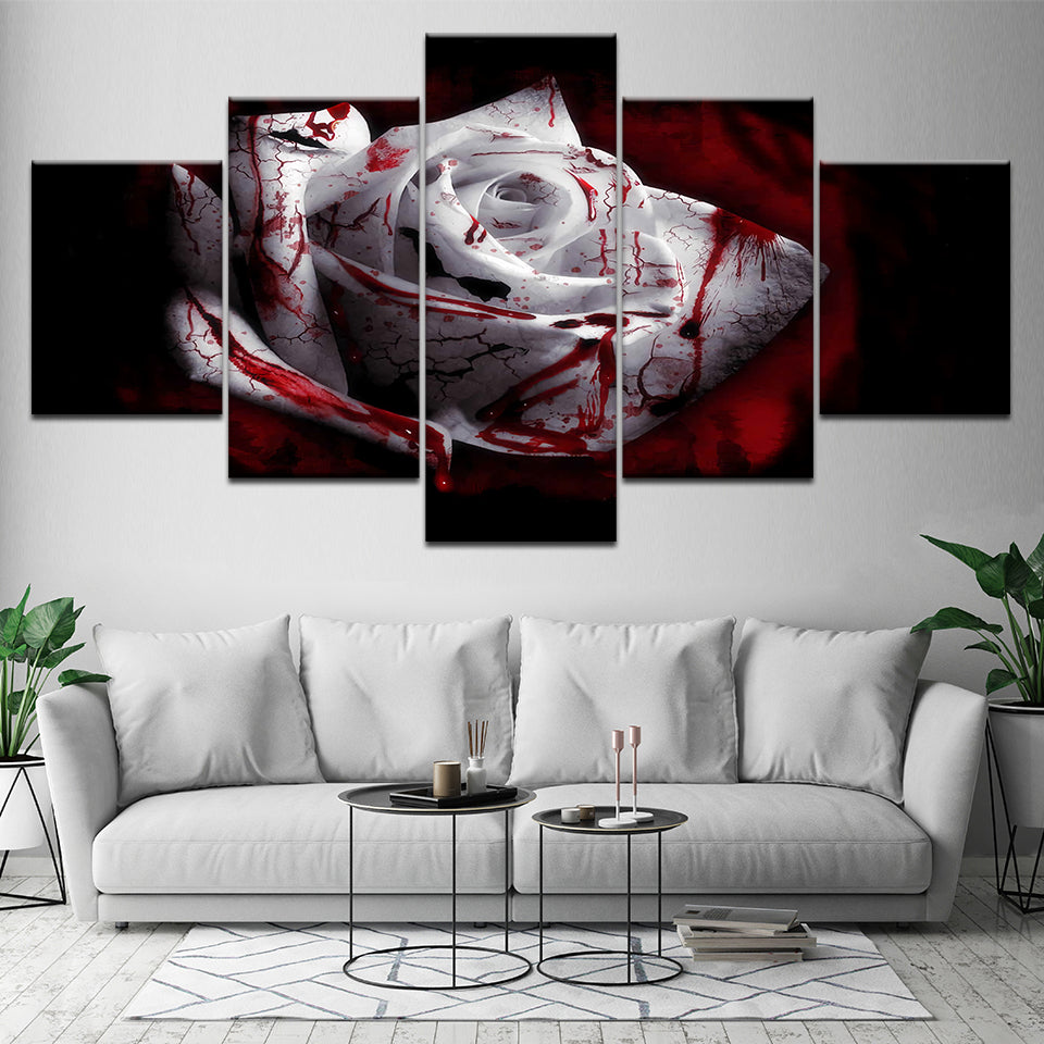 Bloody White Rose, PRINTS, Ole Canvas