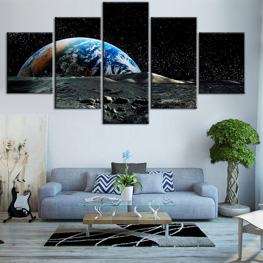 EARTH FROM MOON, PRINTS, Ole Canvas