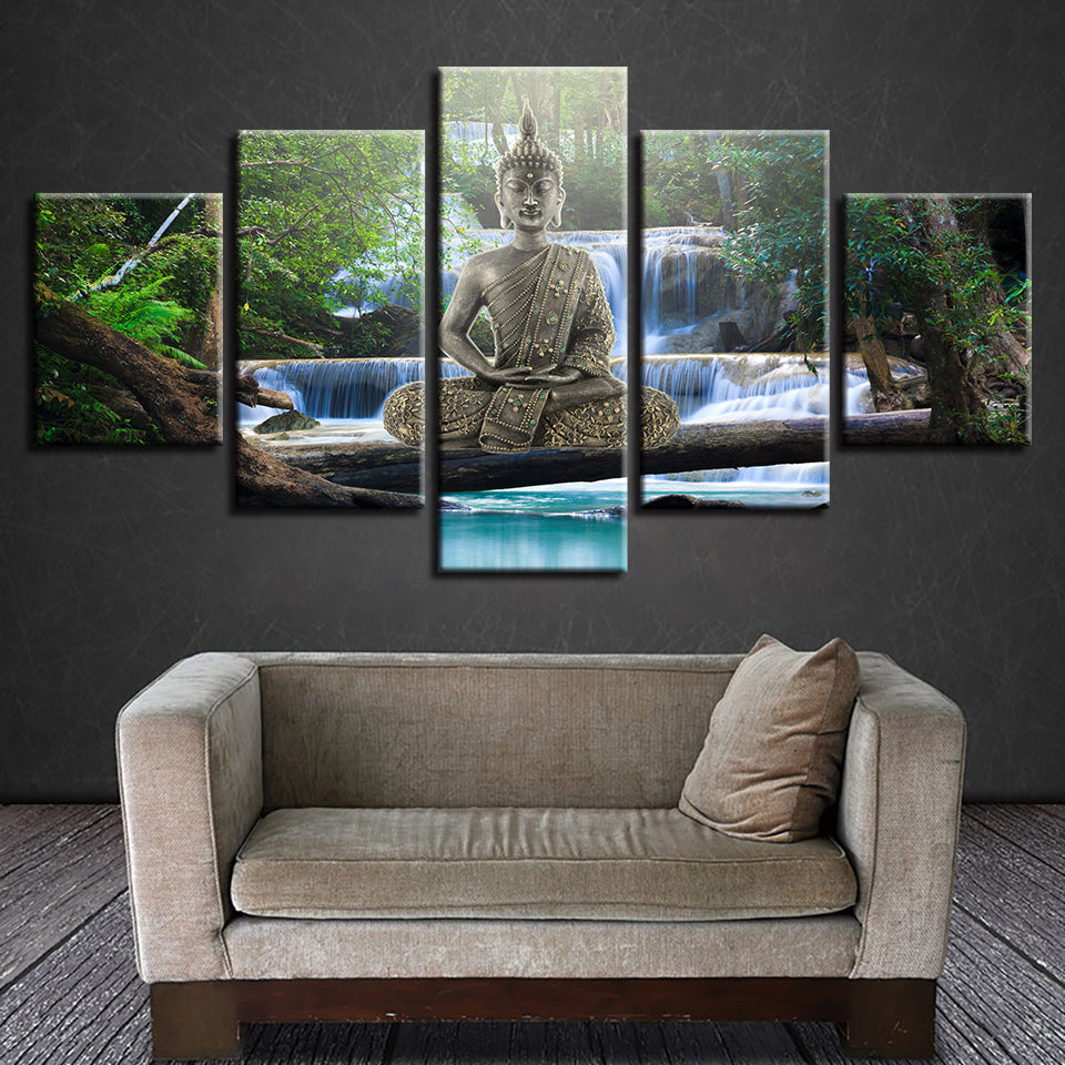 Buddha Waterfall, PRINTS, Ole Canvas