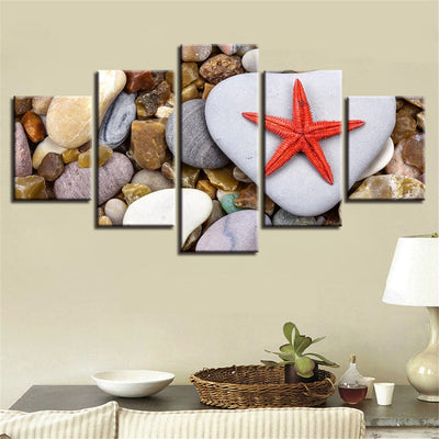 STARFISH AND PEBBLES - Ole Canvas