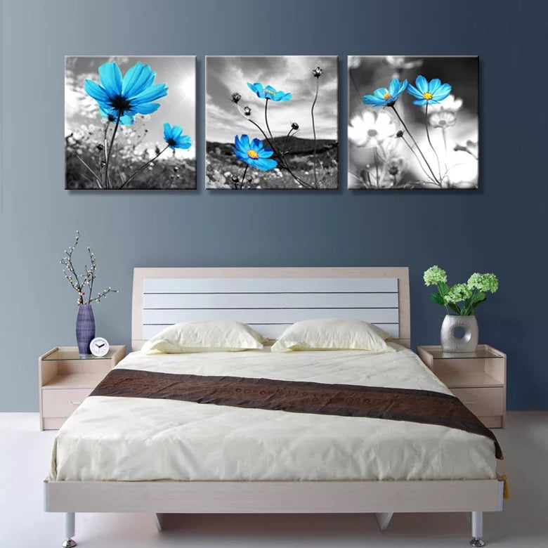 BLUE FLOWER LANDSCAPE, PRINTS, Ole Canvas