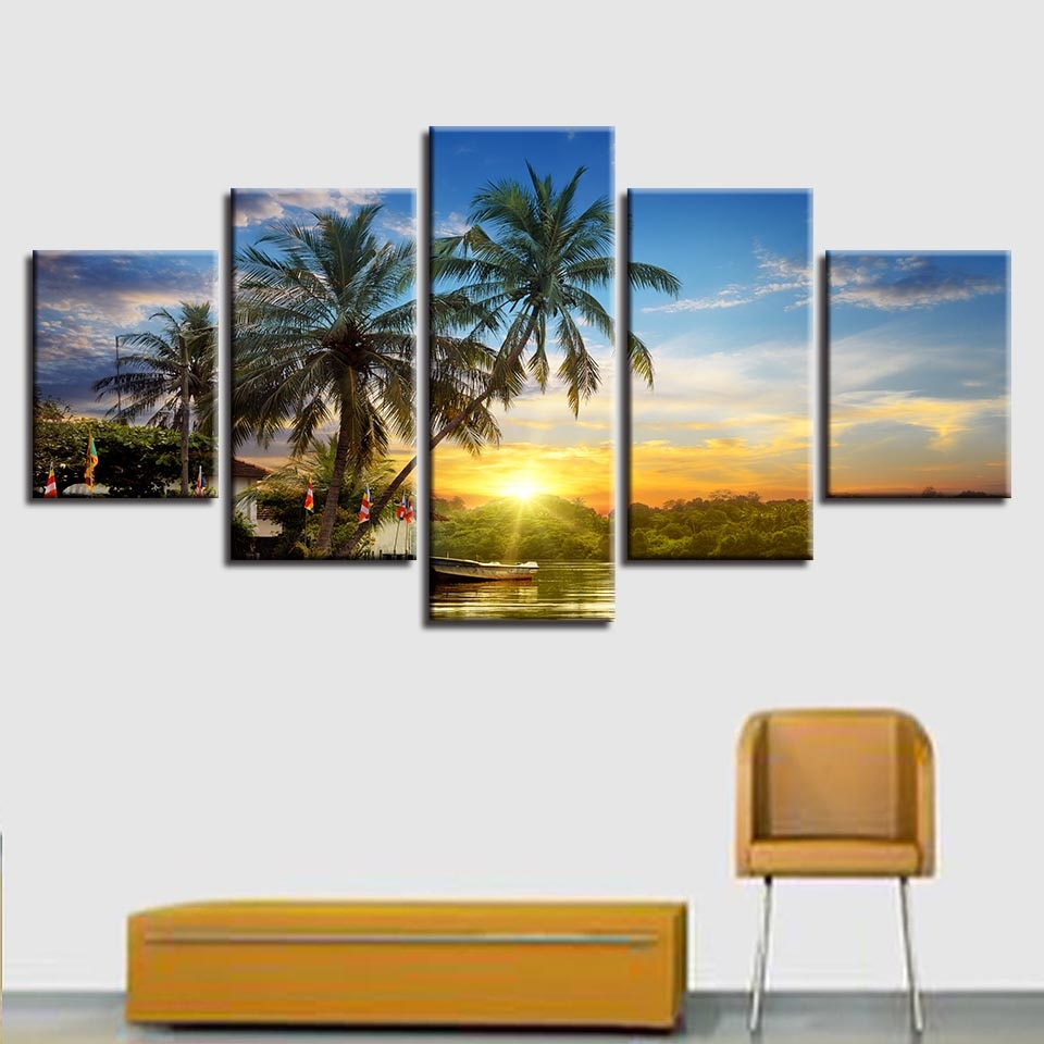 Tropical Sunset - Ole Canvas