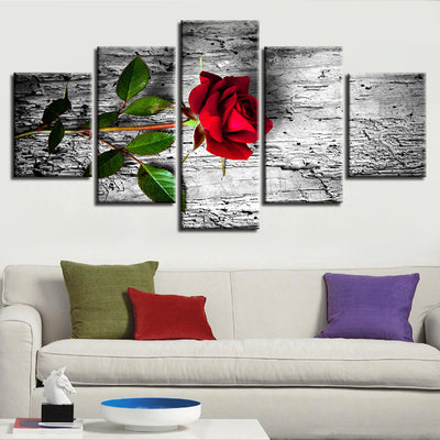 A RED ROSE - Ole Canvas